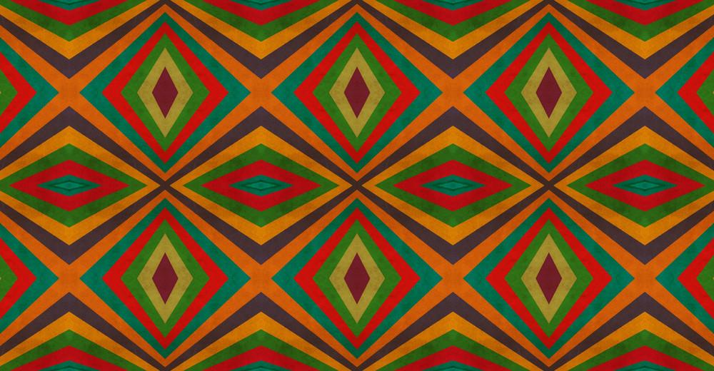 Old Retro Kaleidoscope Graphic