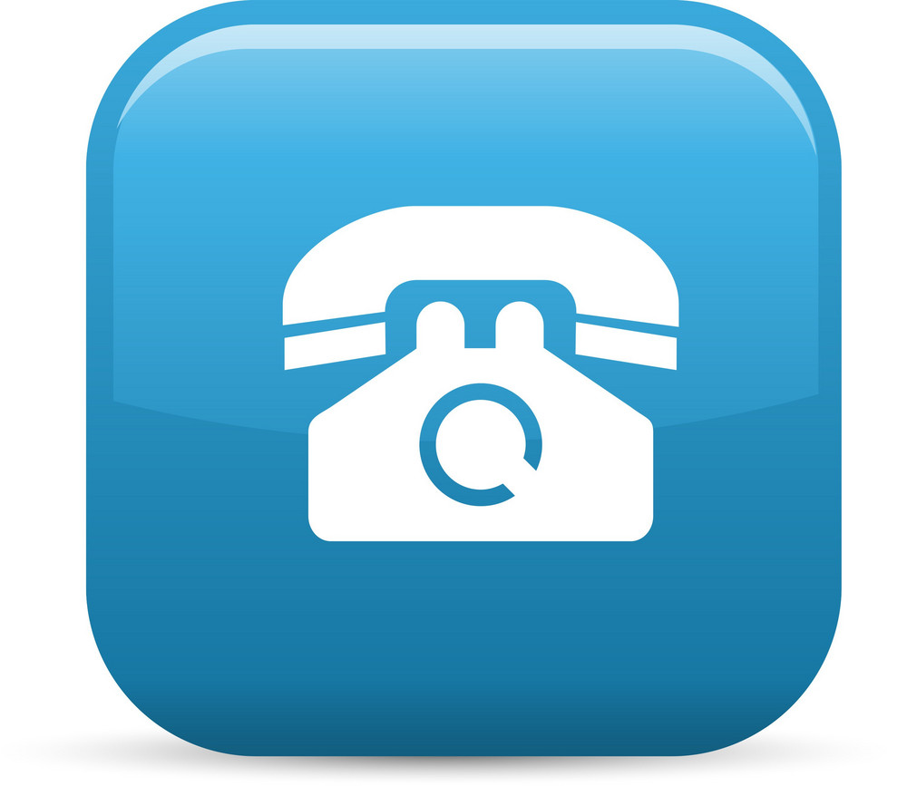 Old Telephone Elements Glossy Icon