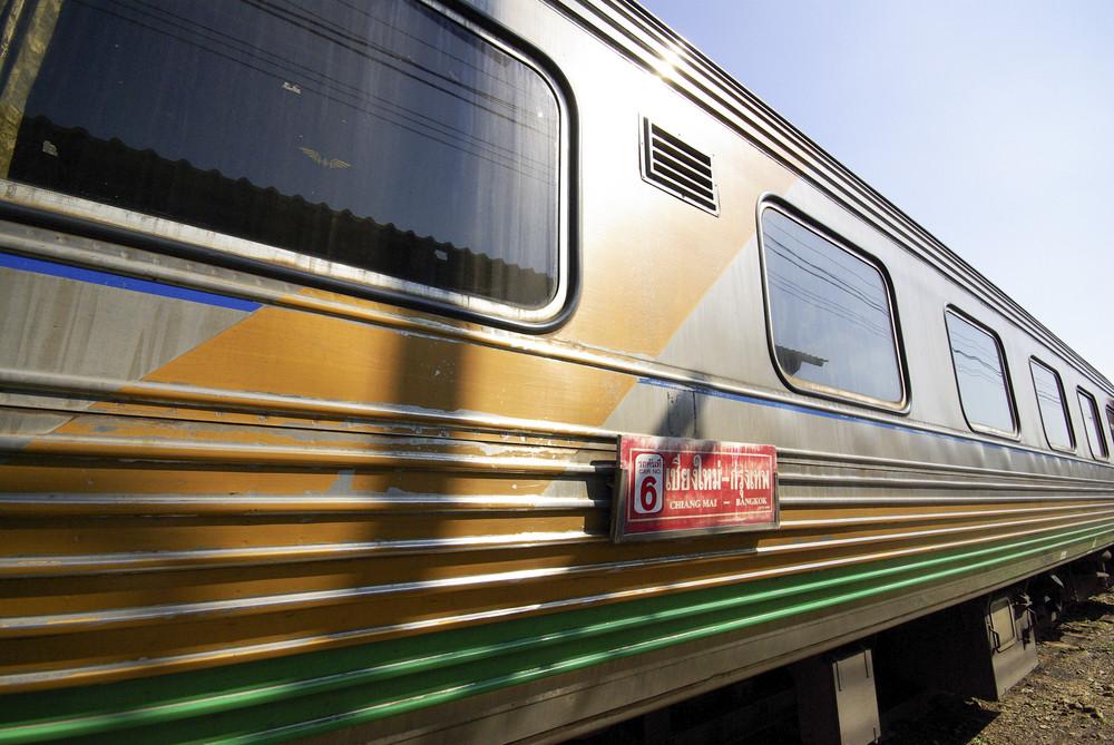 Old vintage asian train transportation