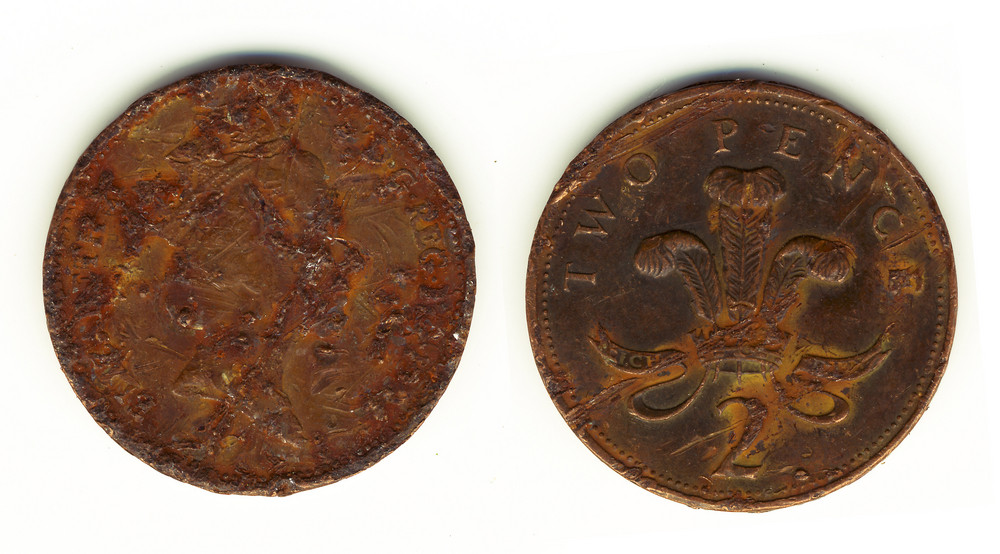 Old Vintage Pence (back And Front)
