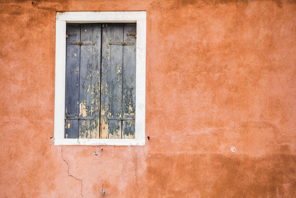 Old vintage window at Venice. Italy