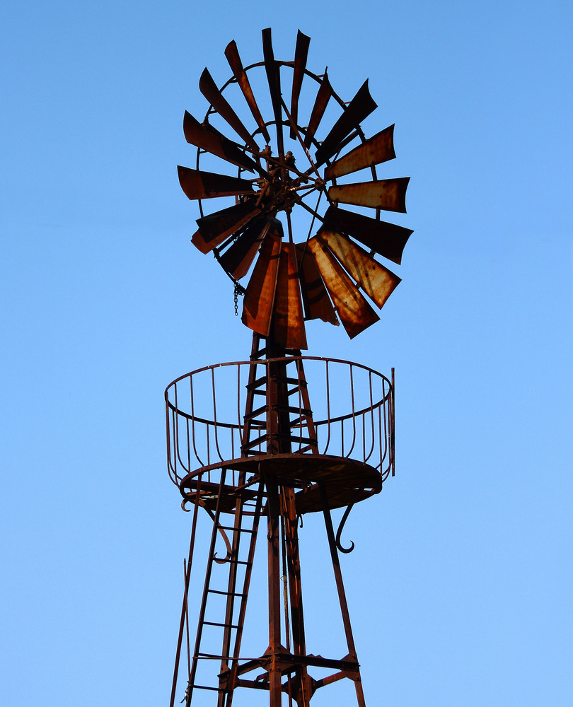 Old Windmill Making Electric Power