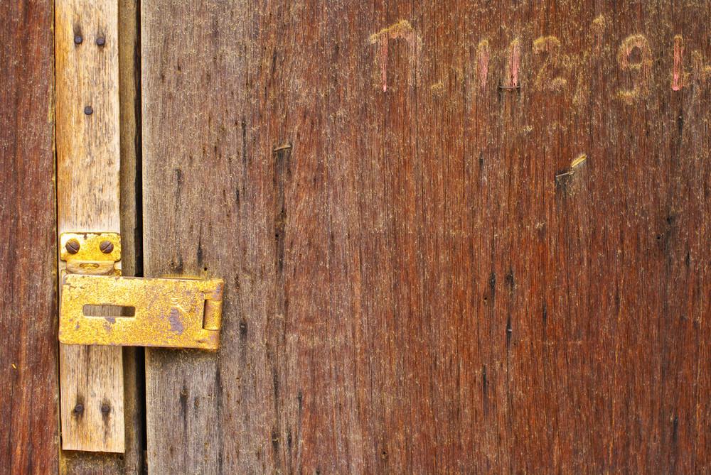 Old wood door detail