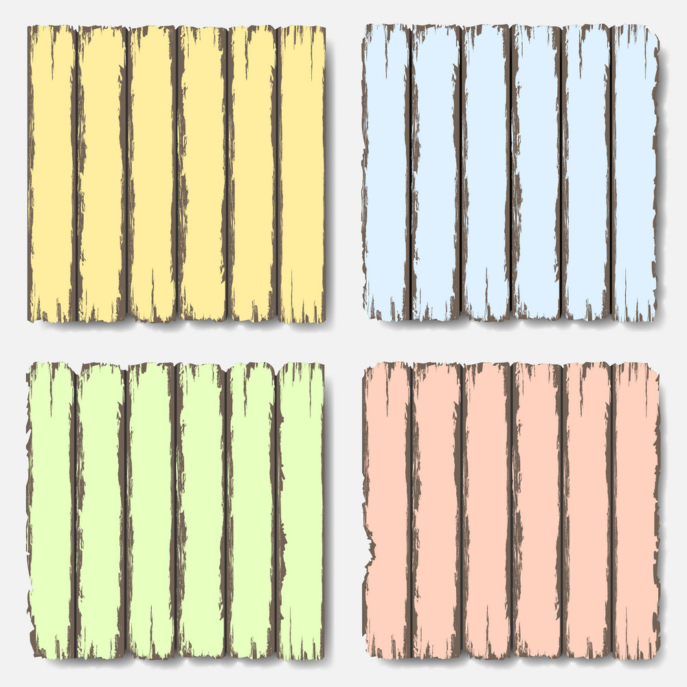 Old Wooden Fence In Pastel Colors