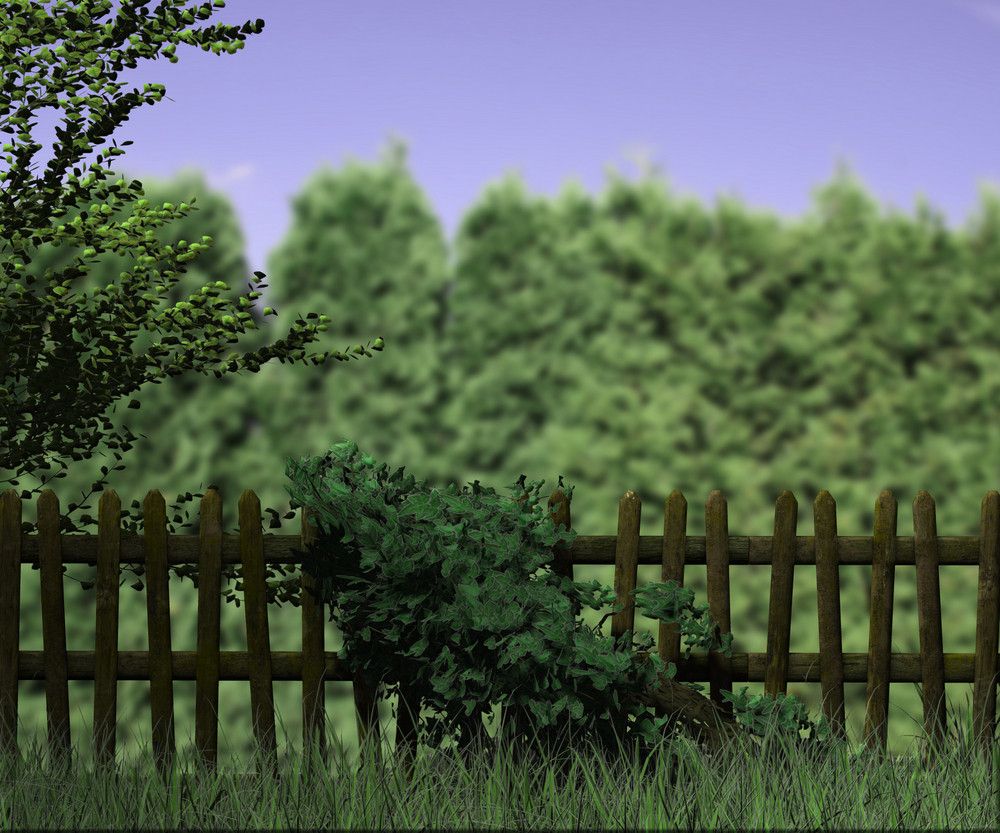 Old Wooden Fence Nature Background