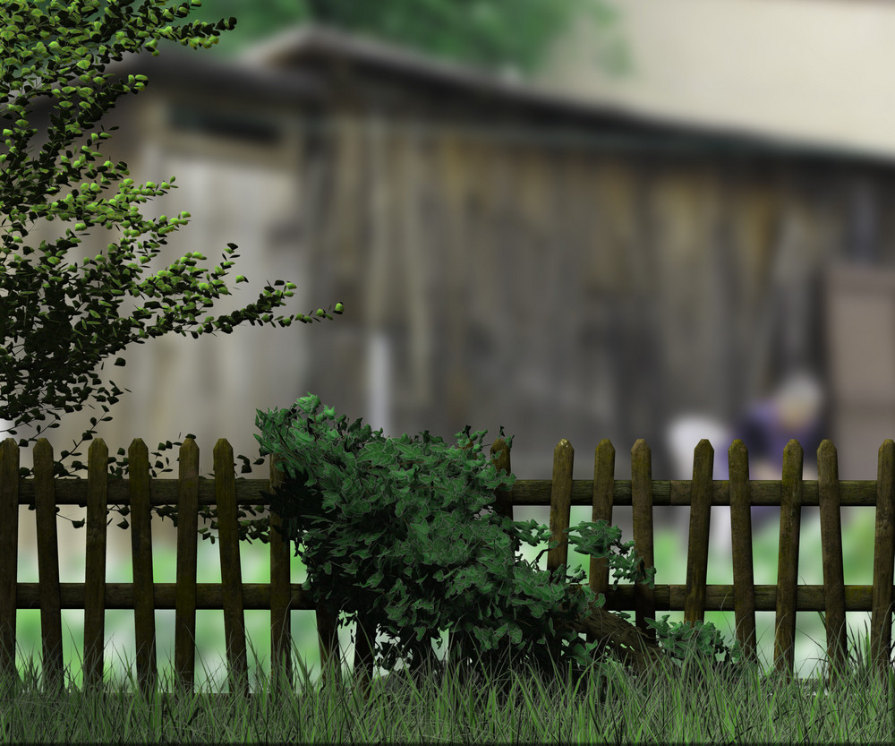 Old Wooden Fence Village Background