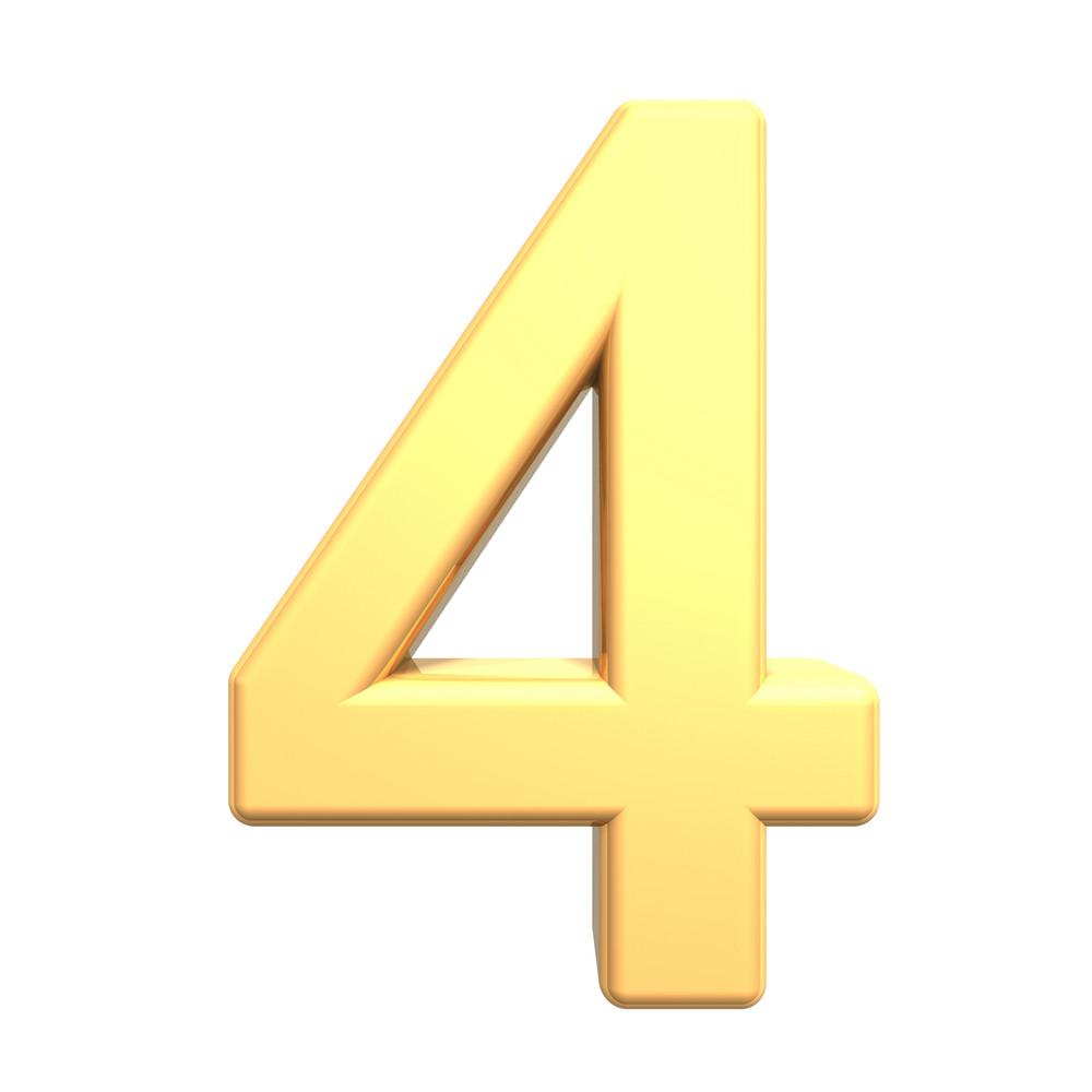 One Digit From Gold Alphabet Set