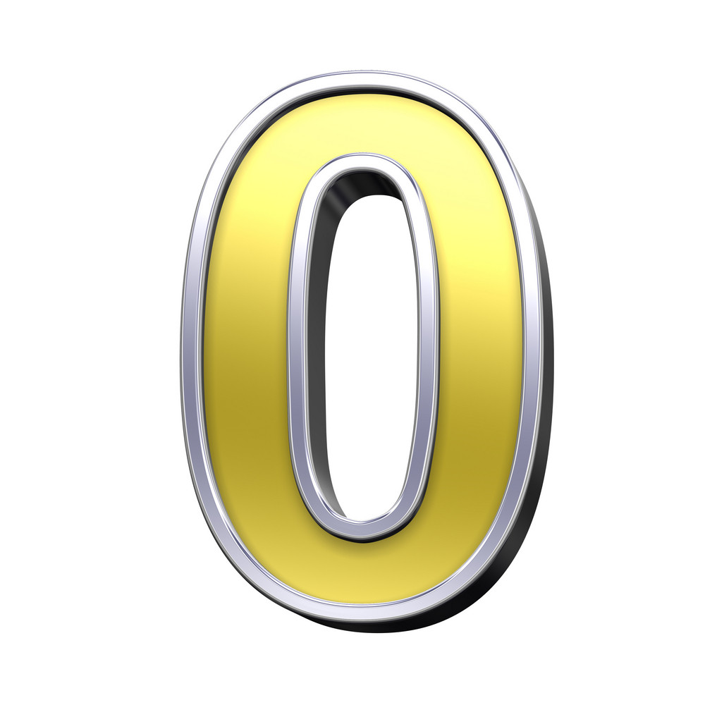 One Digit From Gold With Chrome Frame Alphabet Set