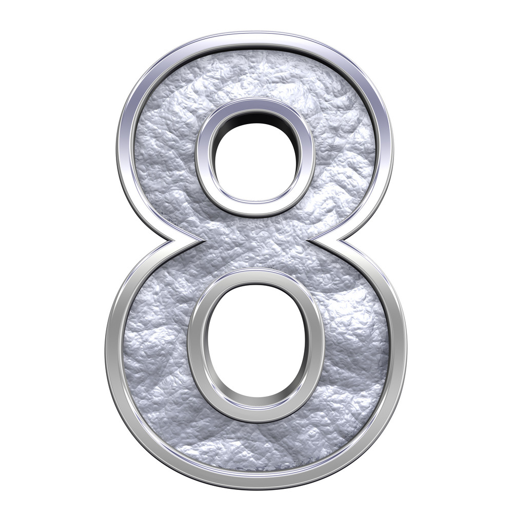 One Digit From Silver Cast Alphabet Set
