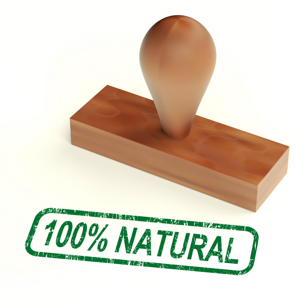 One Hundred Percent Natural Rubber Stamp Shows Pure Product