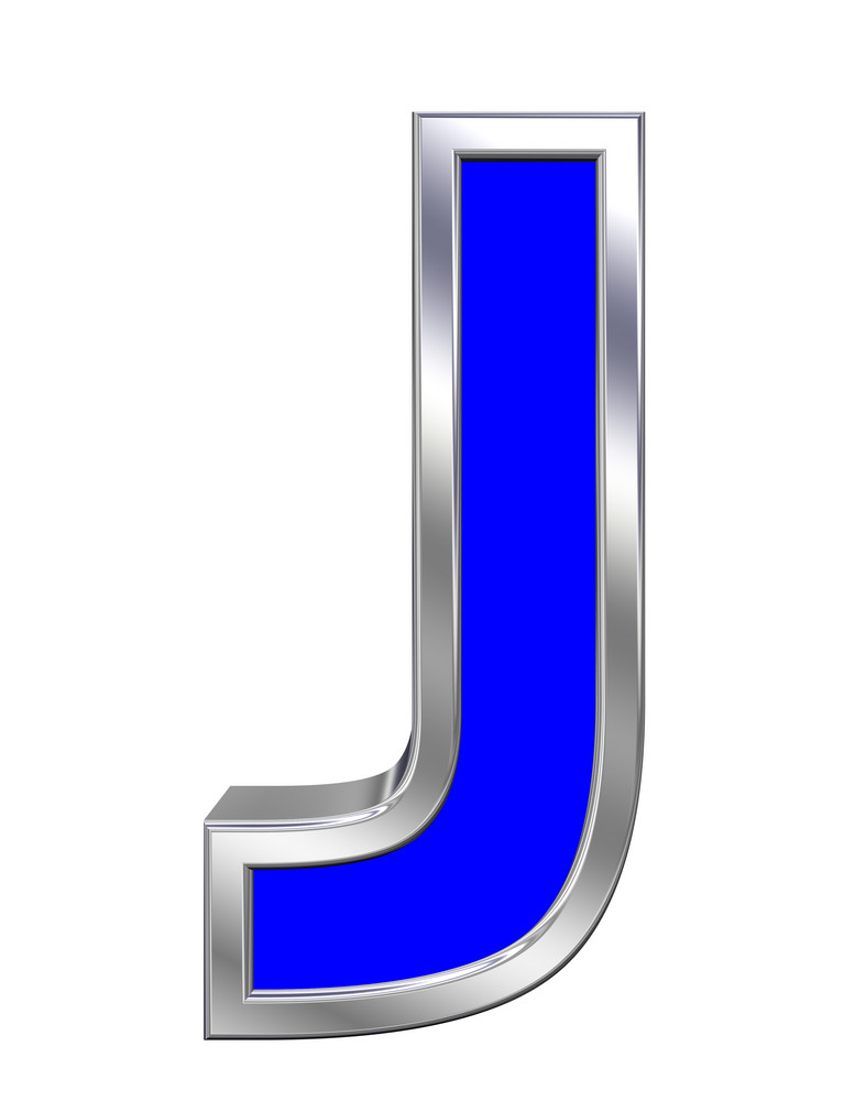 One Letter From Blue With Chrome Frame Alphabet Set