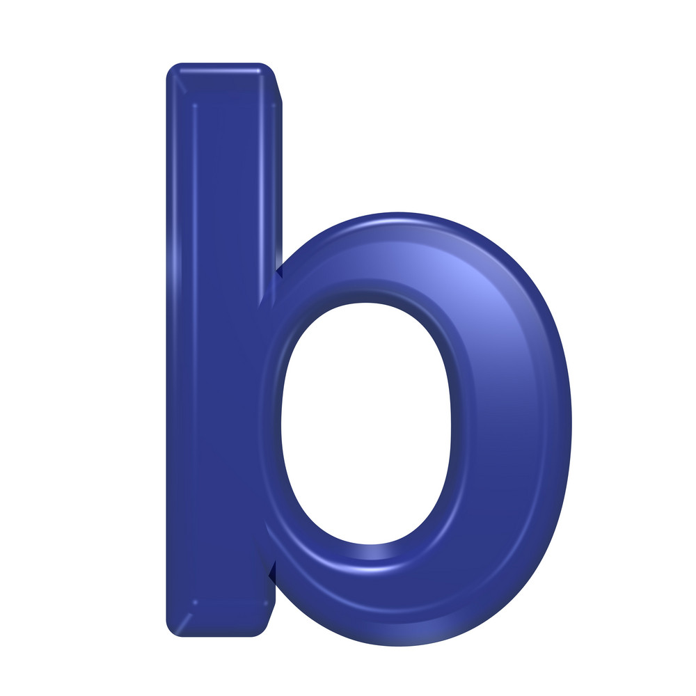 One Lower Case Letter From Blue Glass Alphabet Set
