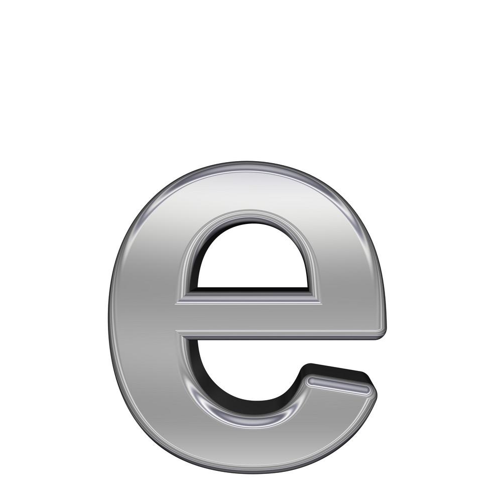 One Lower Case Letter From Chrome Alphabet Set
