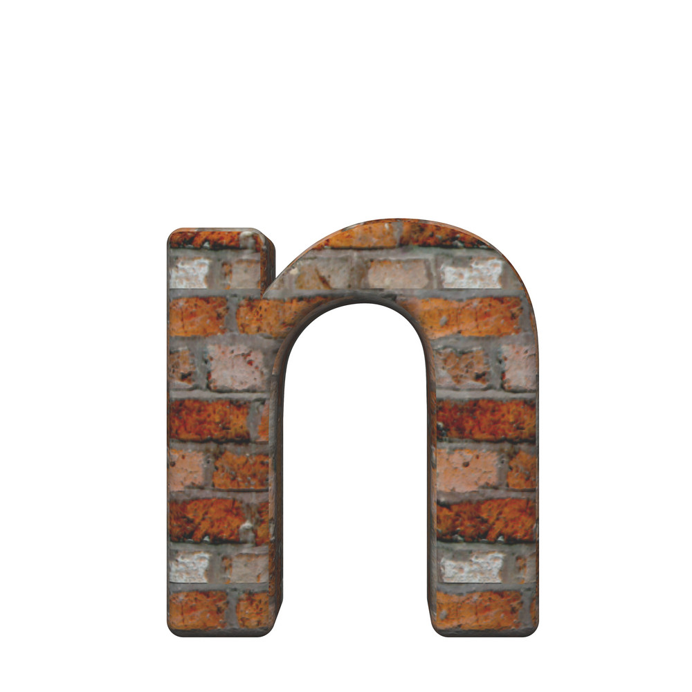 One Lower Case Letter From Old Brick Alphabet Set