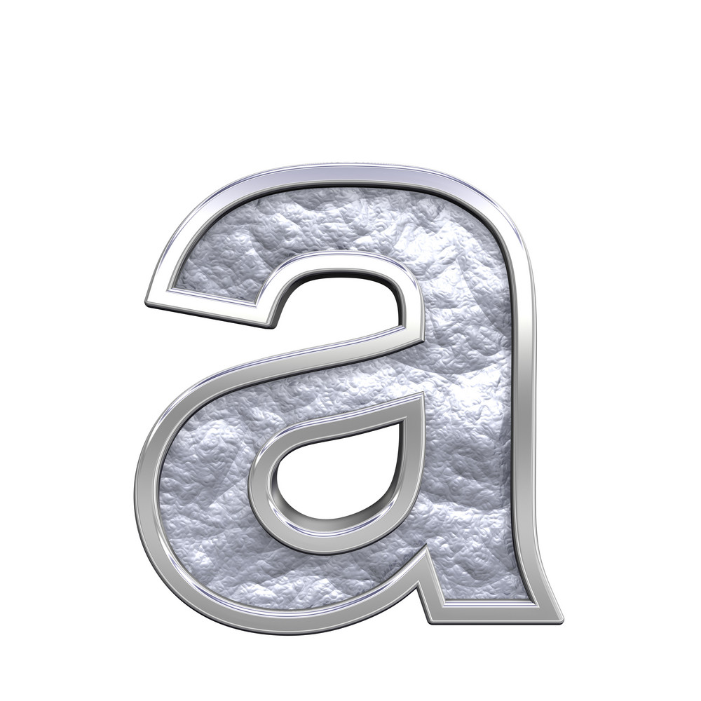 One Lower Case Letter From Silver Cast Alphabet Set