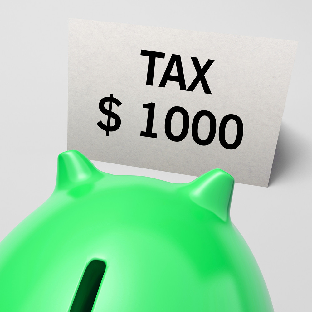 One Thousand Dollars, Usd Tax Showing Expensive Taxes