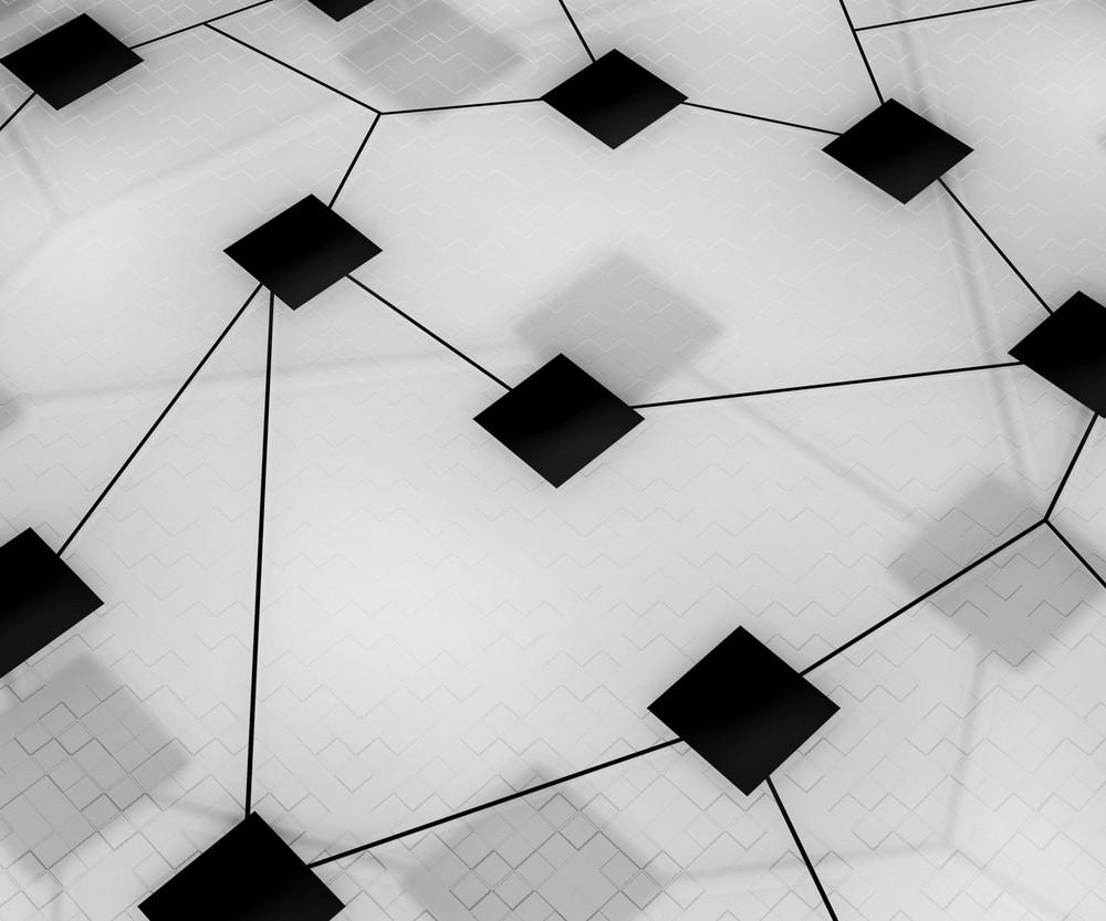Online Network Image White Background
