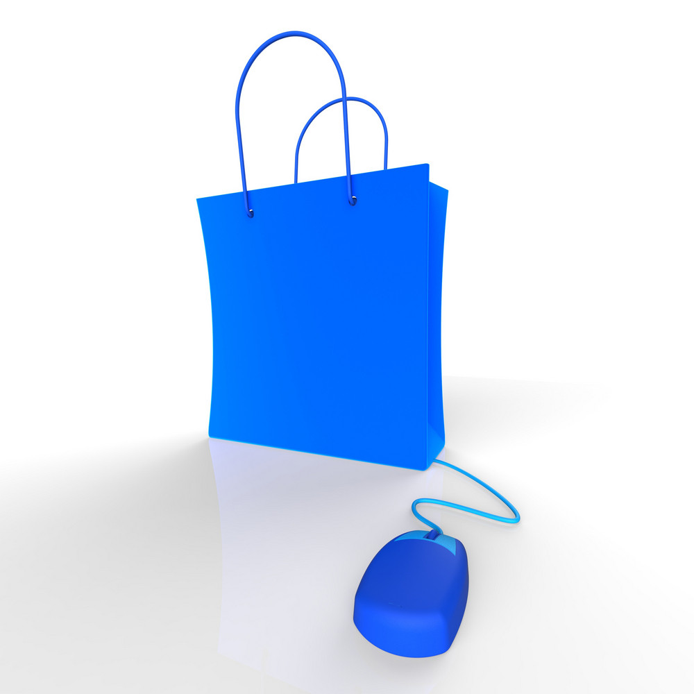 Online Shopping Shows Internet Purchases