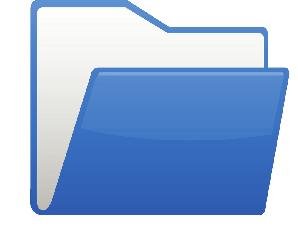 Open Blue Paper File