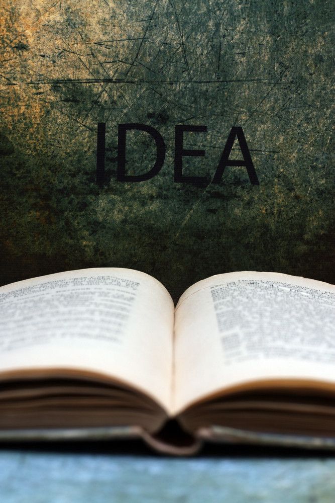 Open Book And Idea Text