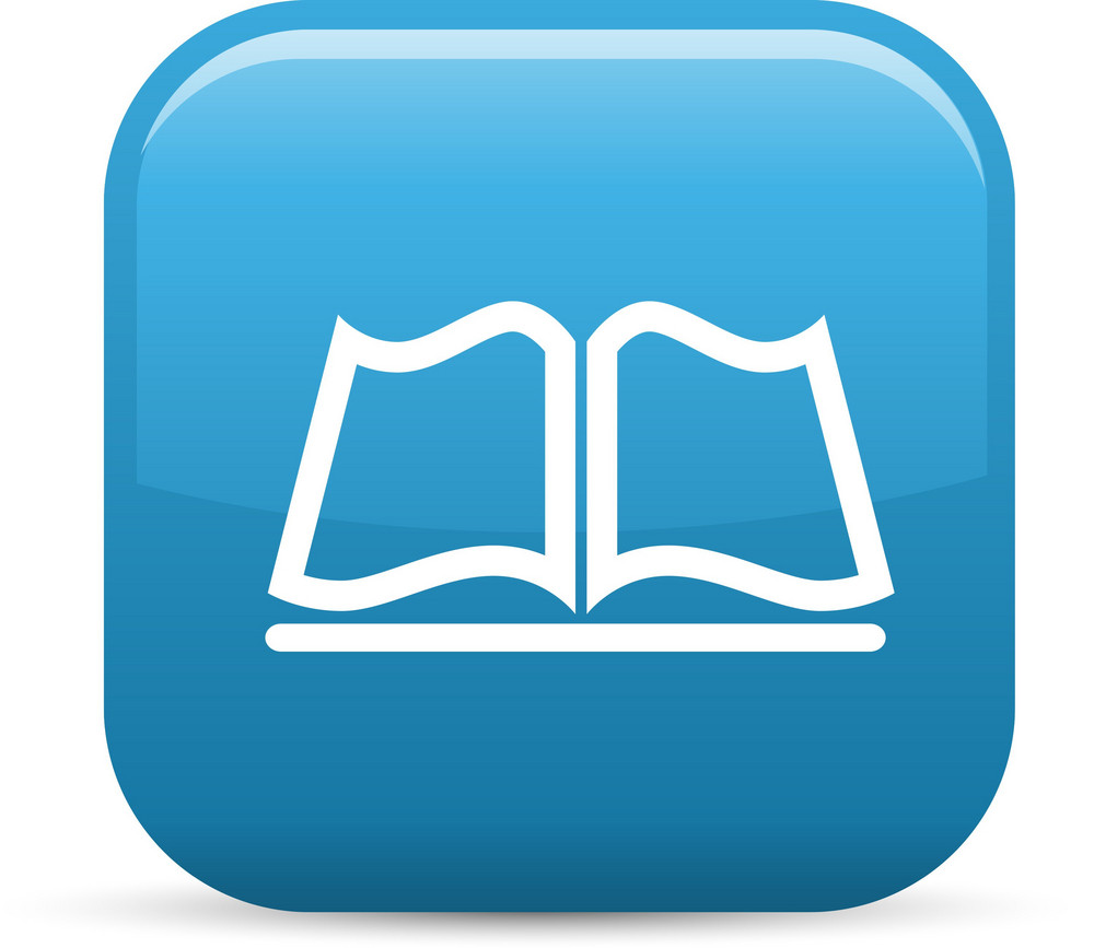 Open Book Elements Glossy Icon