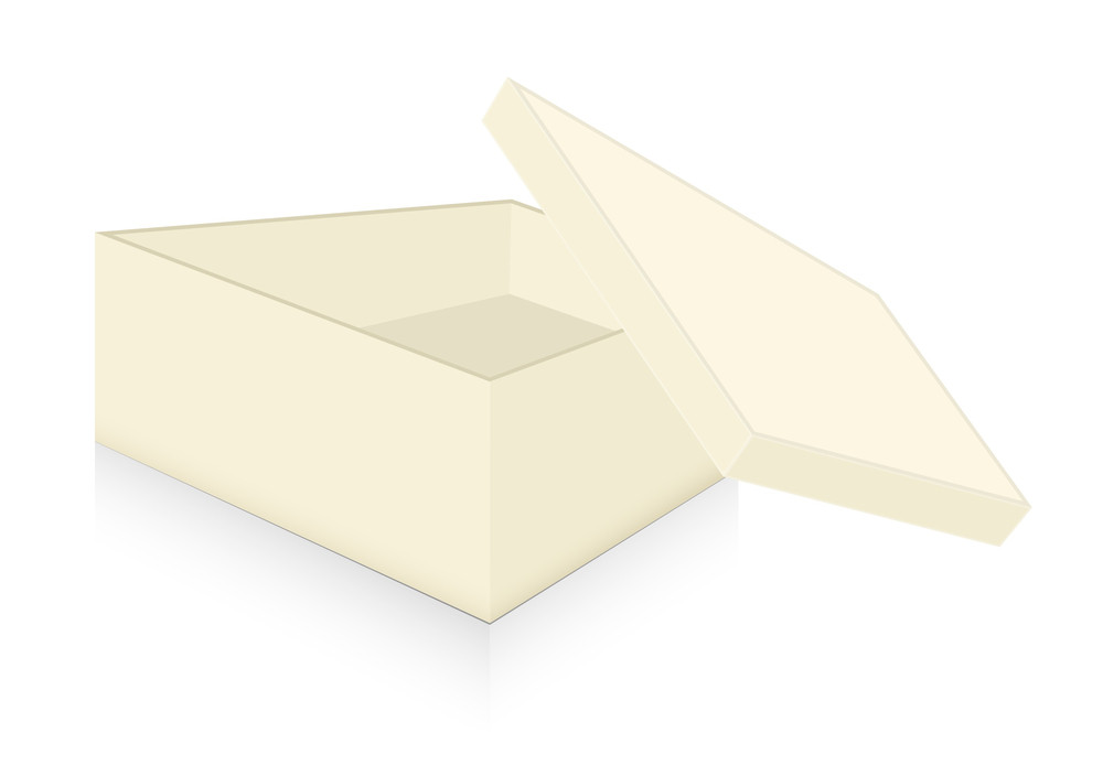 Open Box Isolated On White