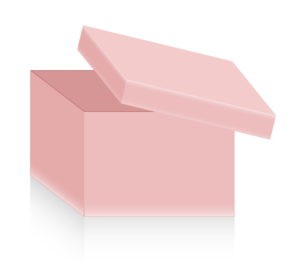 Open Box Vector Design