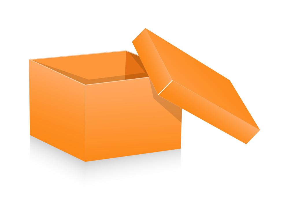 Open Box Vector Element