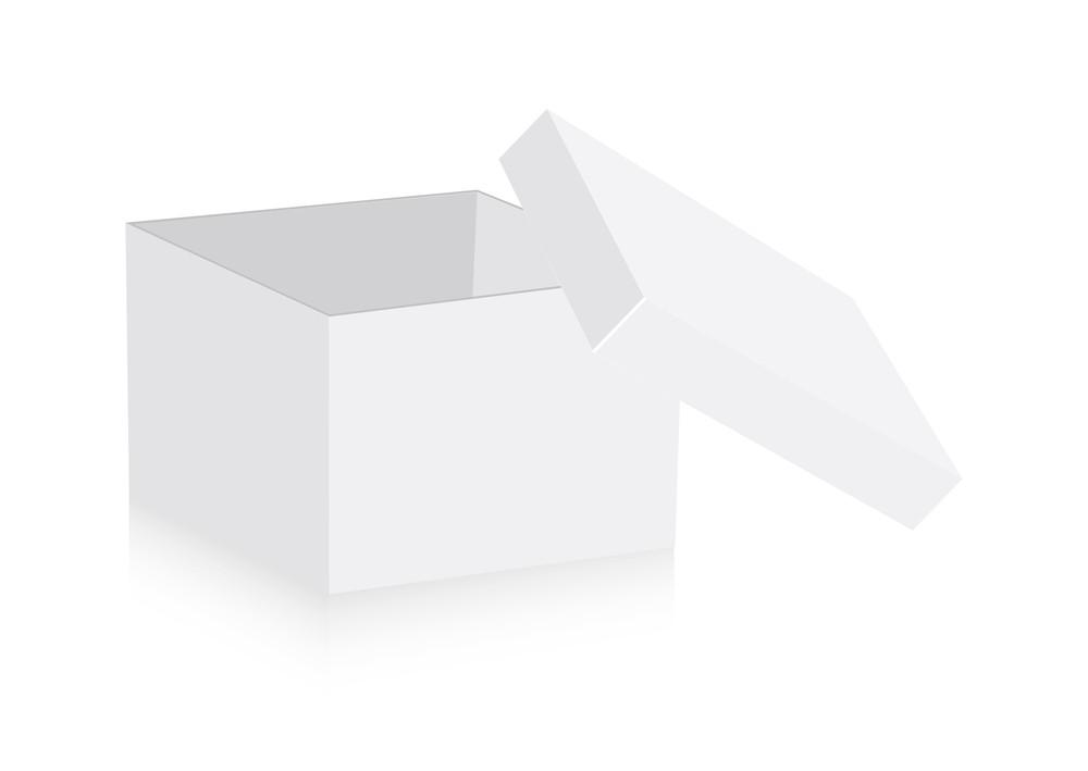Open Box Vector Shape