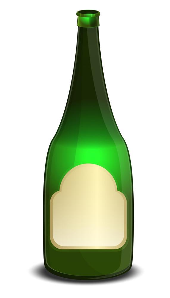Open Champaign Bottle
