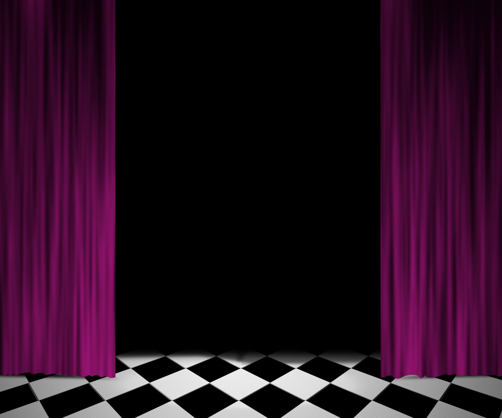 Open Curtain Spotlight Stage Background