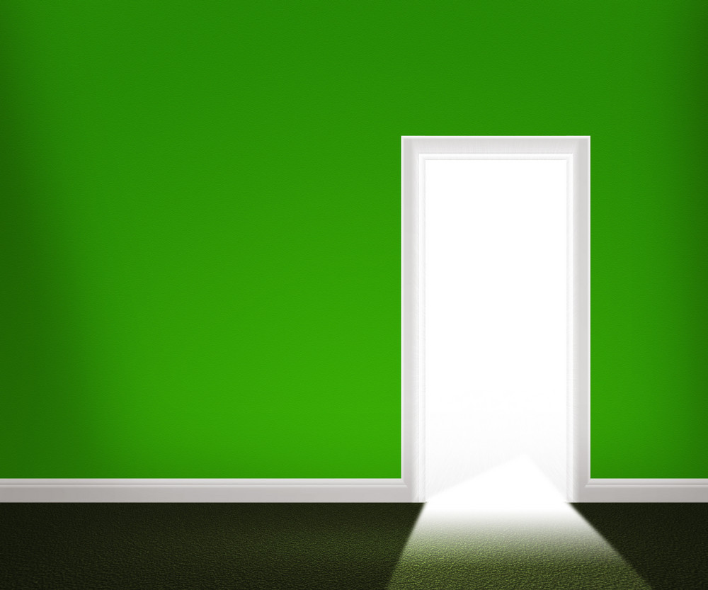 Open Door In The Green Wall