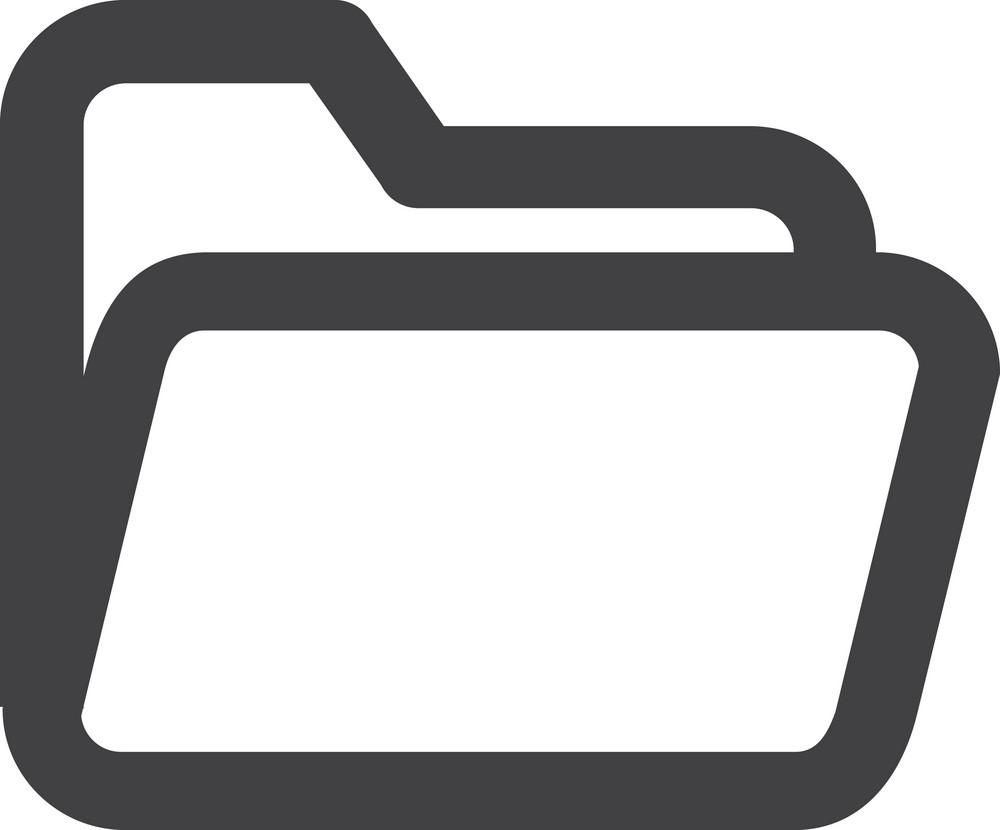 Open Folder Stroke Icon