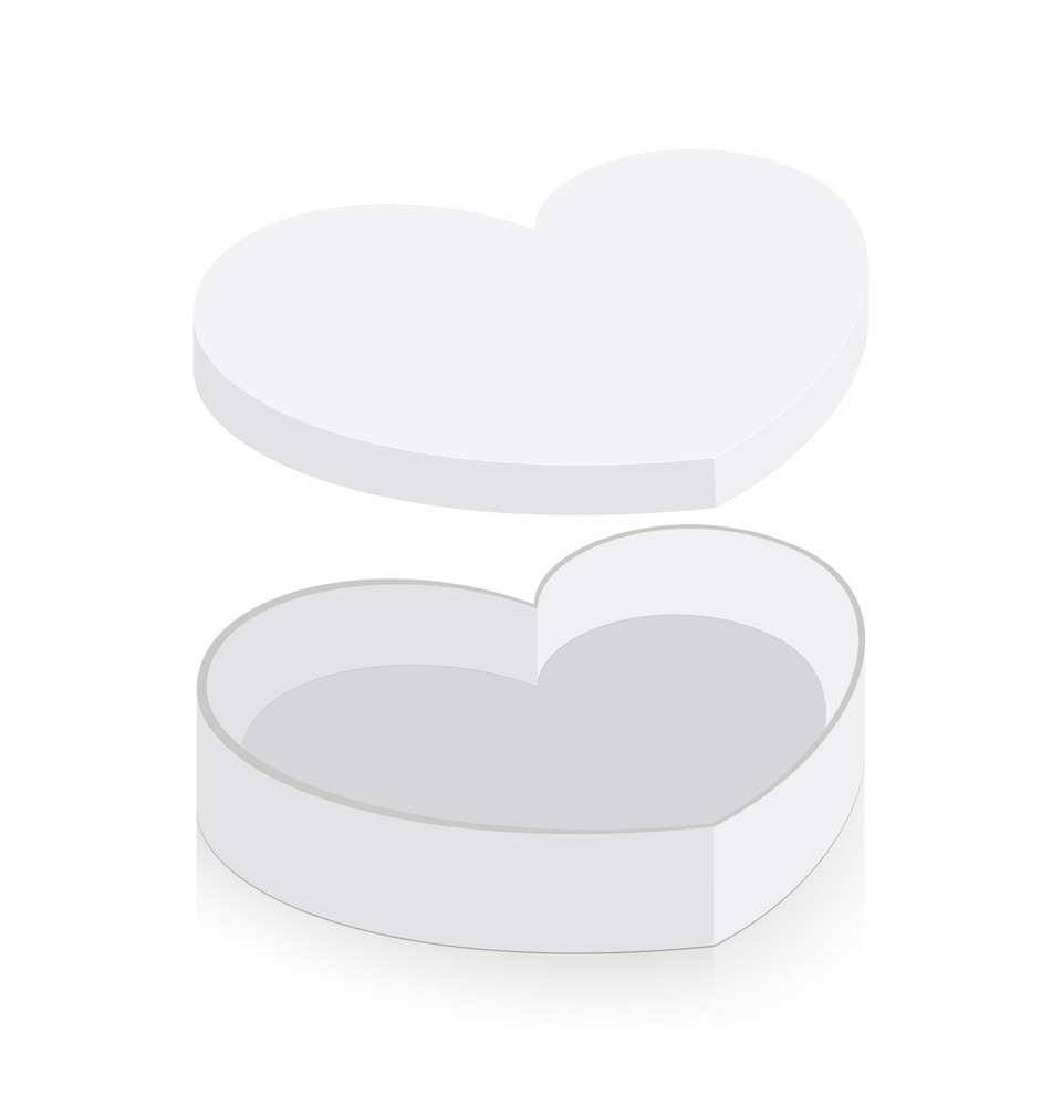 Open Heart Box Vector Illustration