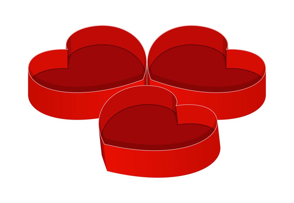 Open Hearts Boxes Vector