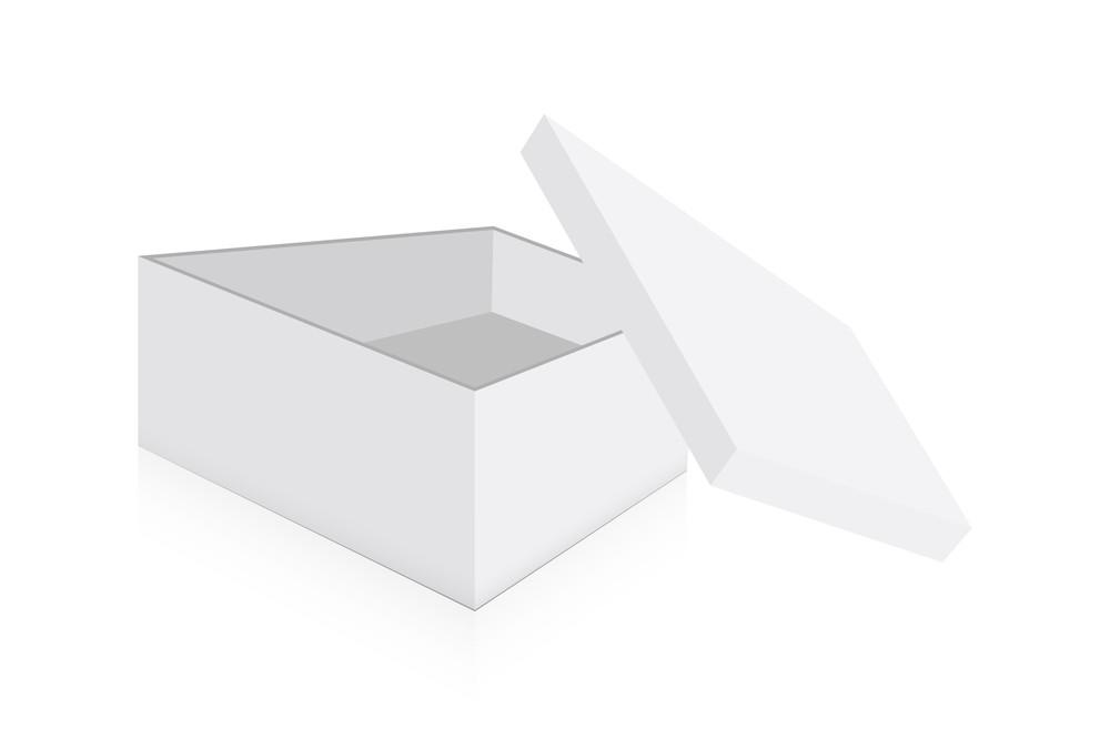 Open Shape Box Vector