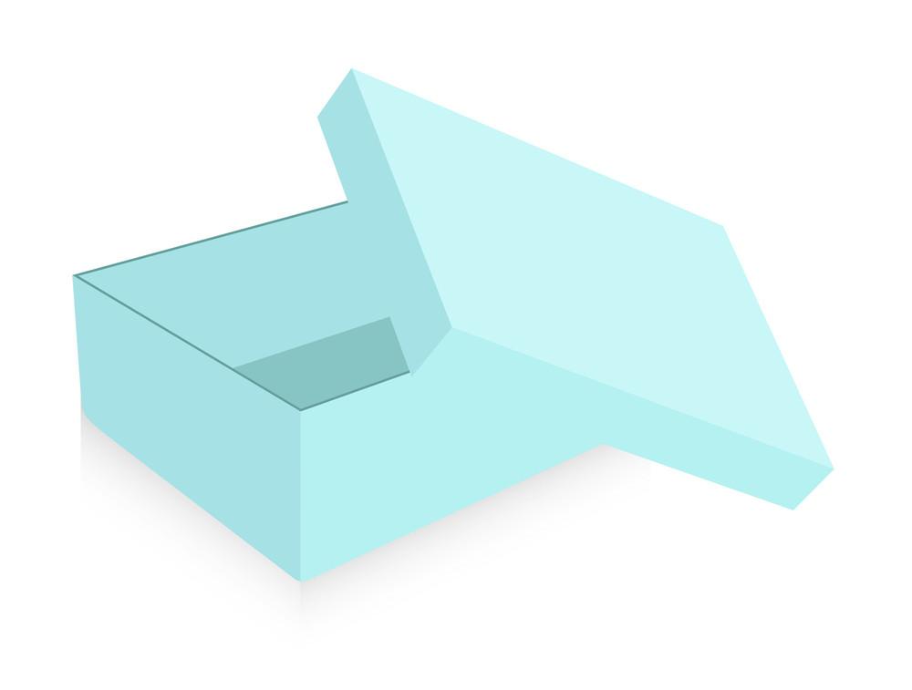 Open Vintage Box Vector