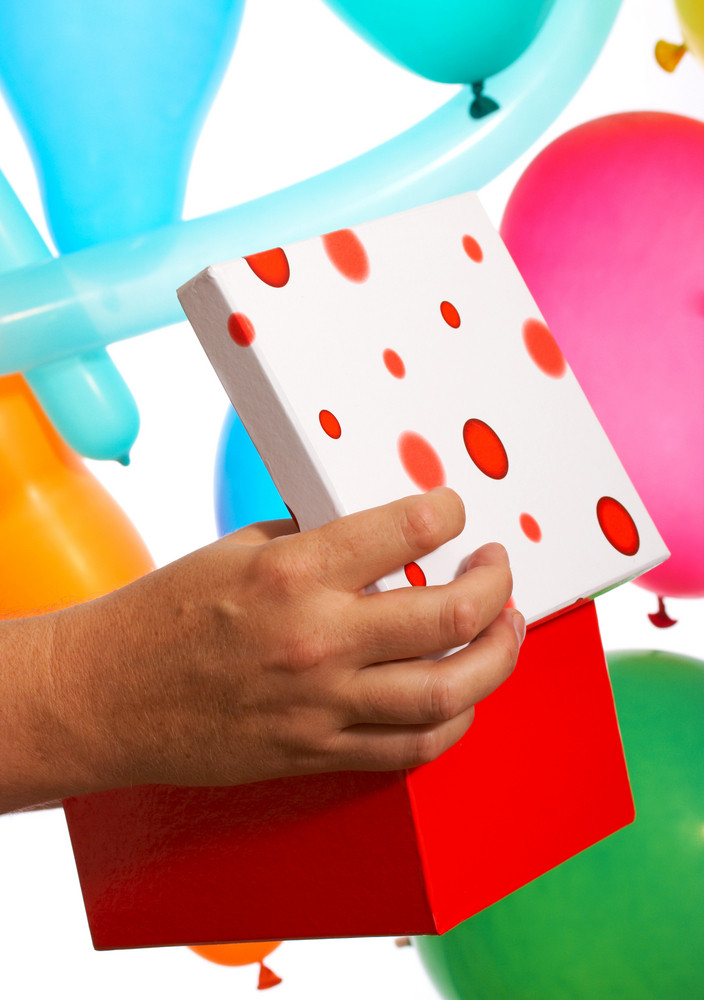 Opening A Birthday Gift Or Present