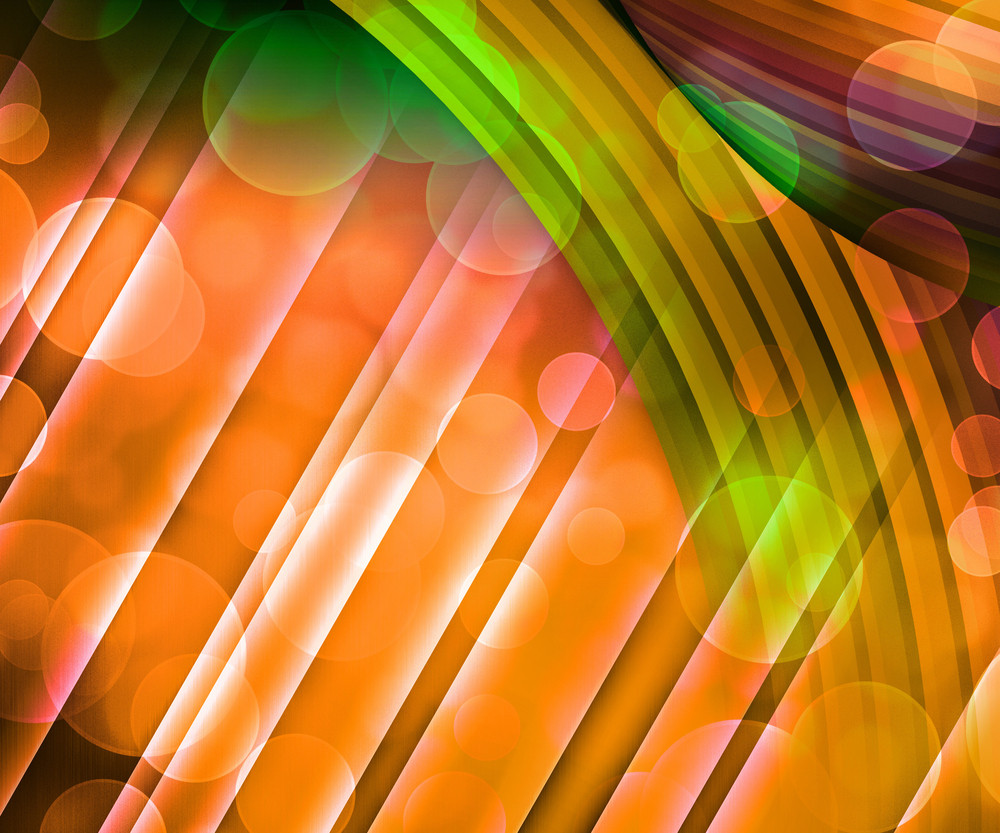 Orange Abstract Background Image