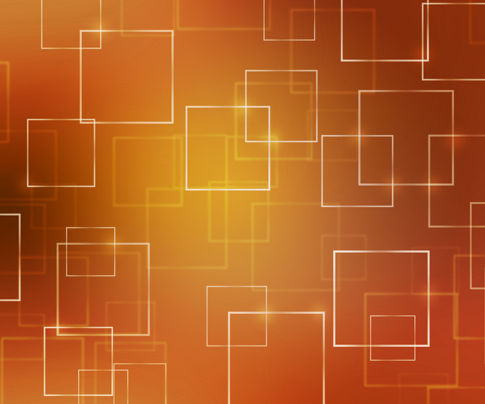 Orange Abstract Squares Background