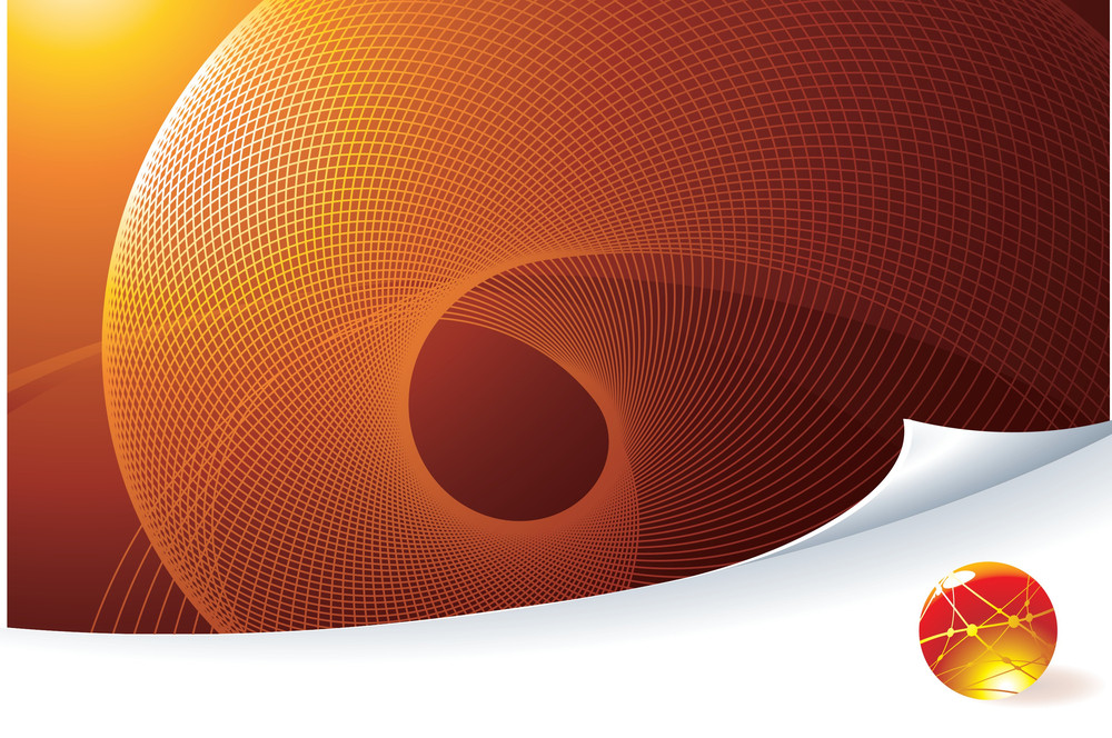 Orange Abstract. Vector Template.