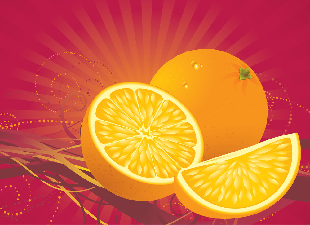 Orange Abstract. Vector.