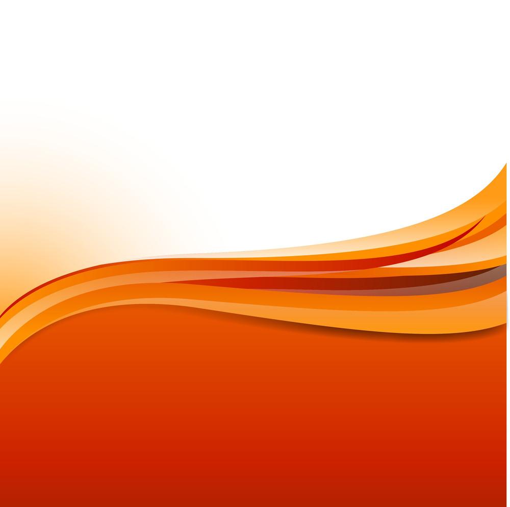 Orange Abstract Wavy Background