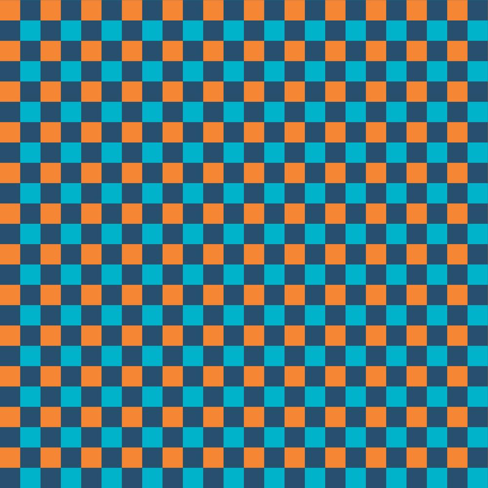 Orange And Blue Checkerboard Pattern