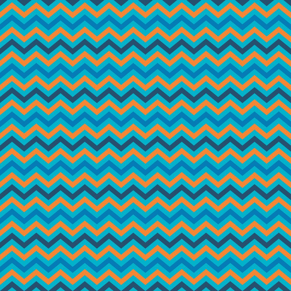 Orange And Blue Chevron Pattern