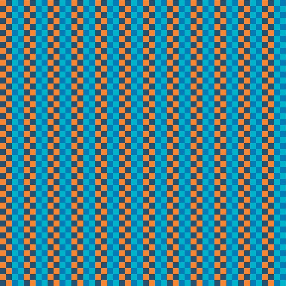 Orange And Blue Plaid Pattern