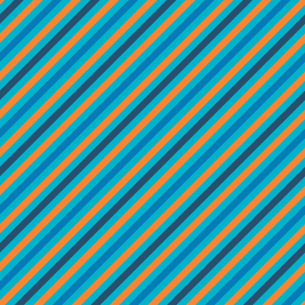 Orange And Blue Striped Pattern
