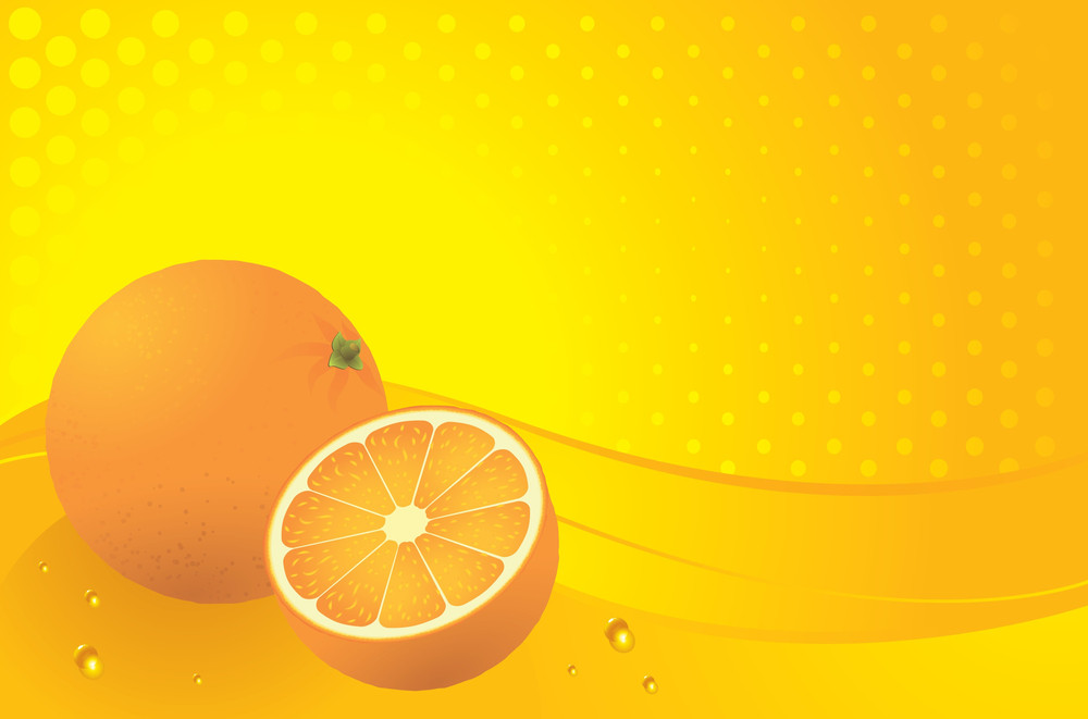 Orange Background. Vector.