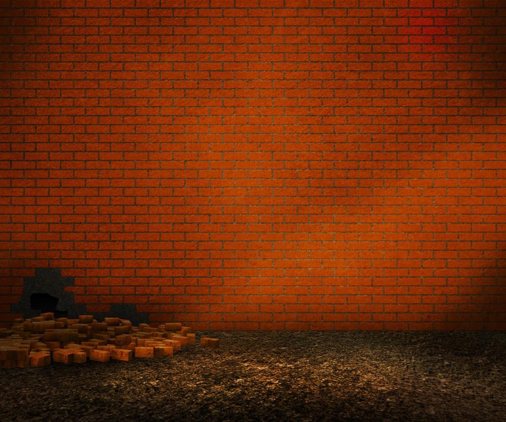 Orange Brick Backyard Background
