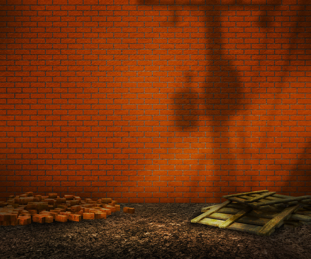 Orange Brick Backyard Background